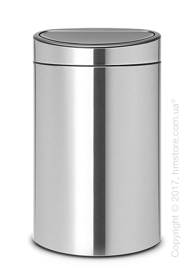 Ведро для мусора двухсекционное Brabantia Touch Bin New Recycle 23/10, Matt Steel