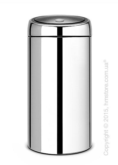 Ведро для мусора двухсекционное Brabantia Touch Bin Recycle 2x20, Brilliant Steel