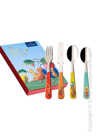 Набор столовых приборов детский Villeroy & Boch коллекция Kiddy Bears, 4 предмета