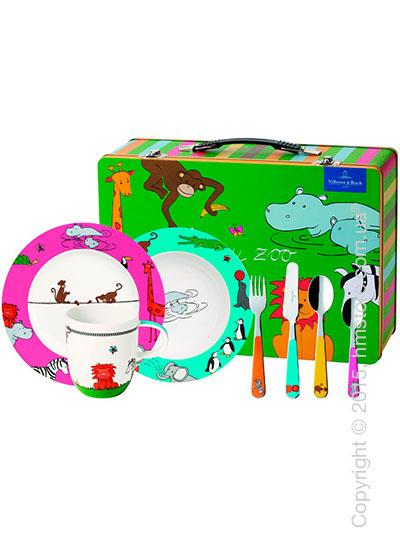 Набор детской посуды Villeroy & Boch коллекция Funny Zoo, 7 предметов