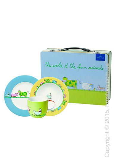 Набор детской посуды Villeroy & Boch коллекция Farm Animals, 3 предмета