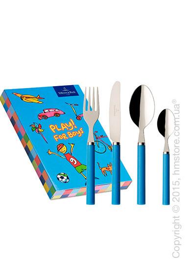Набор столовых приборов детский Villeroy & Boch коллекция Play! for boys, 4 предмета, Blue ocean