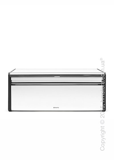 Хлебница Brabantia Fall Front Bread Bin, Brilliant Steel with Matt Black Sides