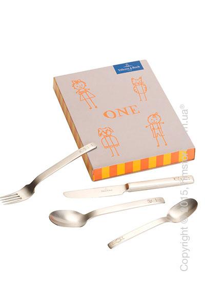 Набор столовых приборов детский Villeroy & Boch коллекция One, 4 предмета