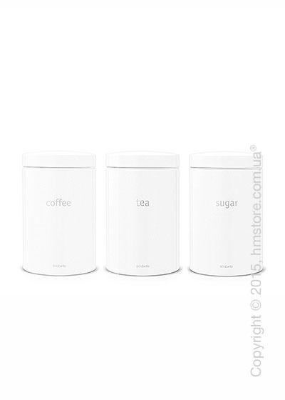 Набор емкостей для хранения сыпучих продуктов Brabantia Round Canister 1,4 л, White