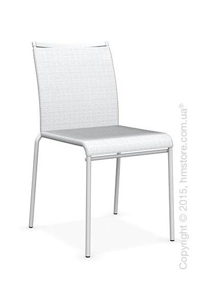 Стул Calligaris Web, Stackable metal chair,  Metal matt optic white, Joy coating optic white and Metal matt optic white