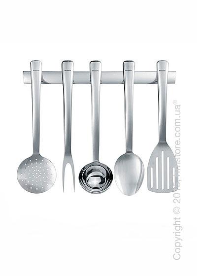 Держатель с набором кухонного инвентаря Brabantia S-Line Kitchen Tools, Brilliant Steel
