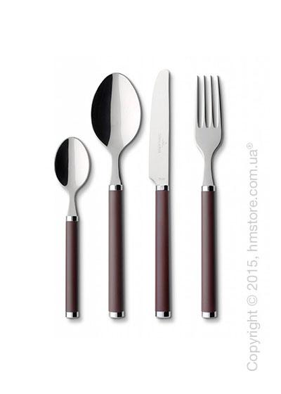 Набор столовых приборов Villeroy & Boch коллекция Play! на 6 персон, 24 предмета, Chocolate brown