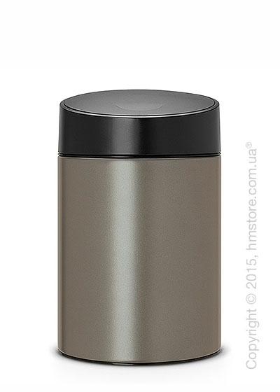 Ведро для мусора Brabantia Slide Bin 5 л, Platinum with Black Plastic Lid