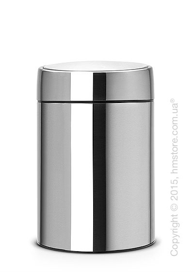 Ведро для мусора Brabantia Slide Bin 5 л, Matt Steel Fingerprint Proof