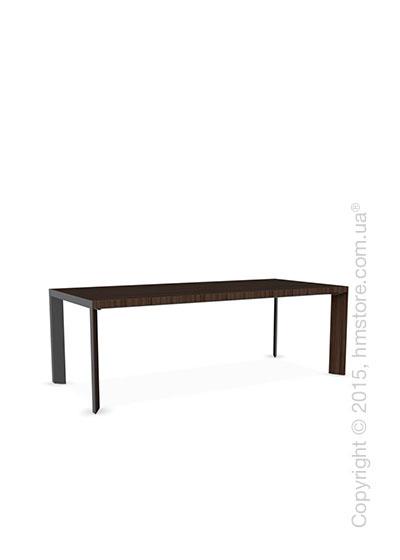 Стол Calligaris Lam, Wood and metal table, Veneersmoke and Metal matt black