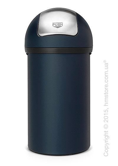 Ведро для мусора Brabantia Push Bin 60 л, Mineral Blue