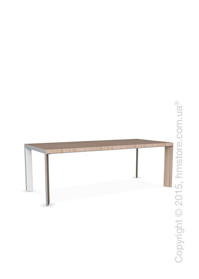 Стол Calligaris Lam, Wood and metal table, Veneer natural and Metal matt optic white