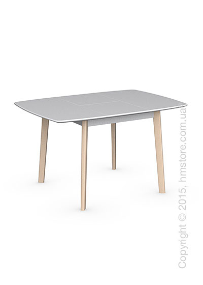 Стол Calligaris Cream Table, Square wooden extending table, Lacquered matt optic white and Solid wood bleached beechwood