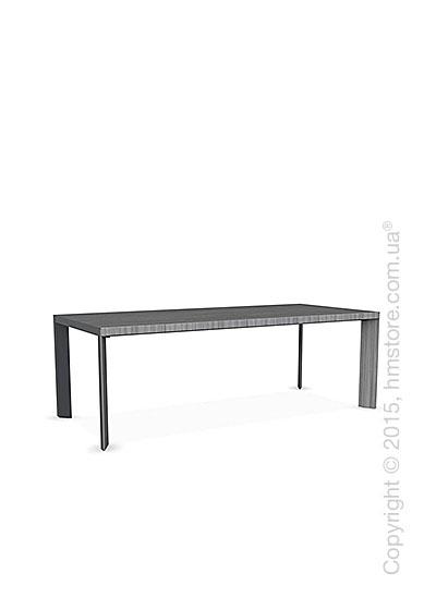 Стол Calligaris Lam, Wood and metal table, Veneer grey and Metal matt grey