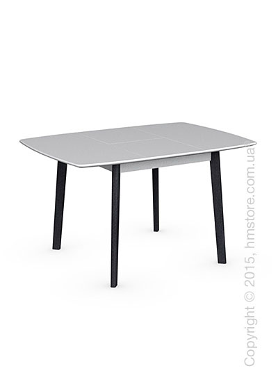 Стол Calligaris Cream Table, Square wooden extending table, Lacquered matt optic white and Solid wood graphite beech stained