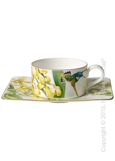 Чашка с блюдцем Villeroy & Boch коллекция Amazonia 230 мл, 2 предмета