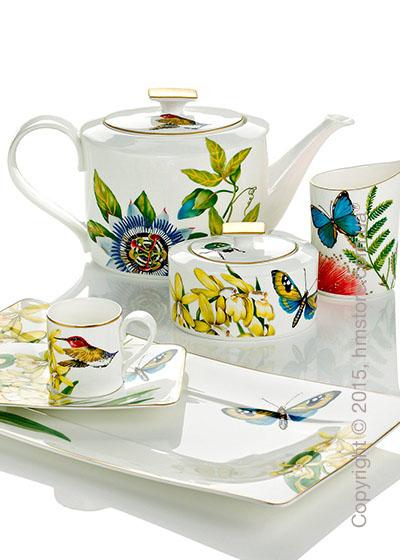 Набор фарфоровой посуды Villeroy & Boch коллекция Amazonia на 6 персон, 55 предметов