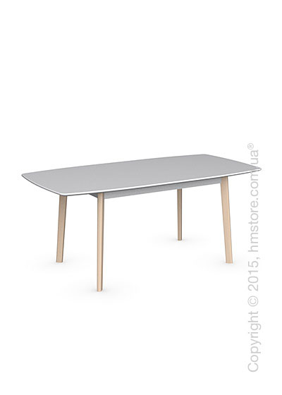 Стол Calligaris Cream Table, Rectangular wood extending table, Lacquered matt optic white and Solid wood bleached beechwood