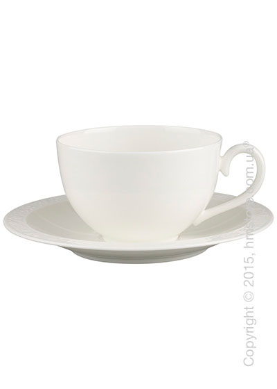 Чашка с блюдцем Villeroy & Boch коллекция White Pearl 400 мл, 2 предмета