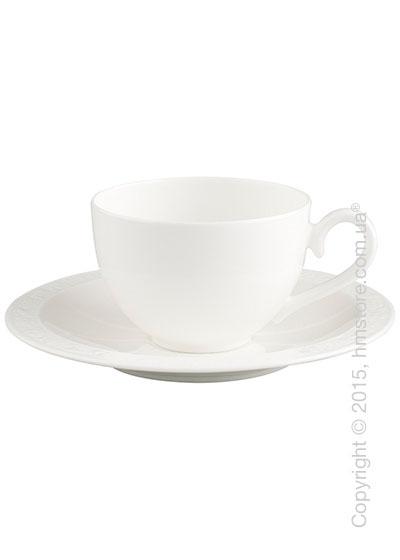 Чашка с блюдцем Villeroy & Boch коллекция White Pearl 200 мл, 2 предмета