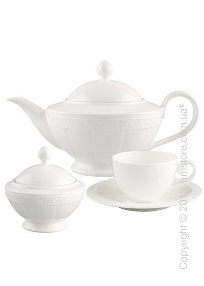 Чайный сервиз Villeroy & Boch коллекция White Pearl на 6 персон, 14 предметов