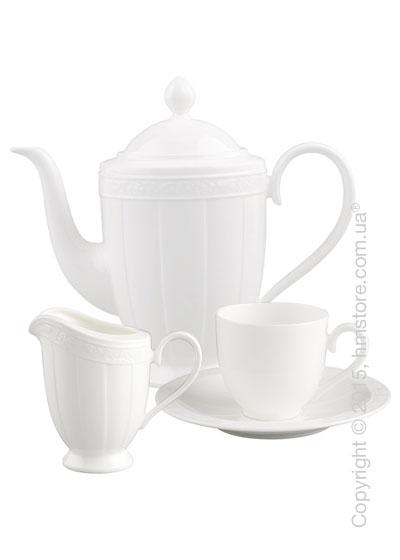 Кофейный сервиз Villeroy & Boch коллекция White Pearl на 6 персон, 15 предметов