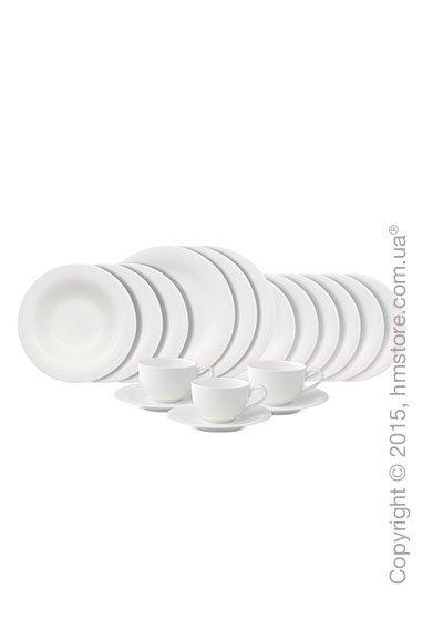 Набор фарфоровой посуды Villeroy & Boch коллекция New Cottage Basic на 6 персон, 30 предметов
