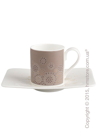 Чашка для эспрессо с блюдцем Villeroy & Boch коллекция Modern Grace Grey, 2 предмета