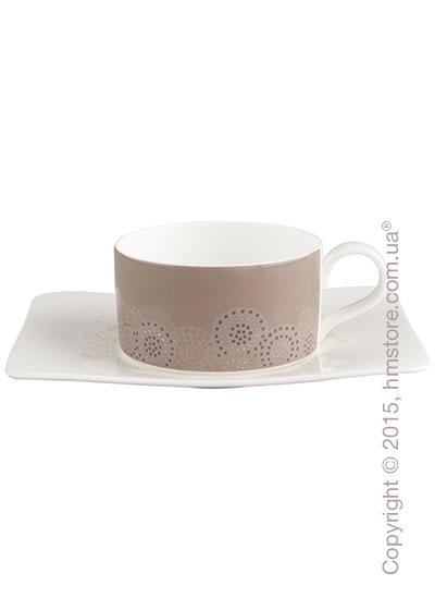 Чашка с блюдцем Villeroy & Boch коллекция Modern Grace Grey, 2 предмета