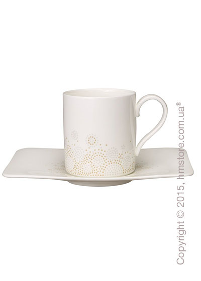 Чашка с блюдцем Villeroy & Boch коллекция Modern Grace Grеy, 2 предмета