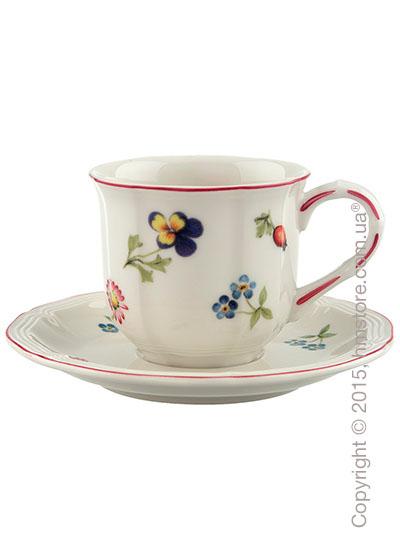 Чашка для эспрессо с блюдцем Villeroy & Boch коллекция Petite Fleur, 2 предмета