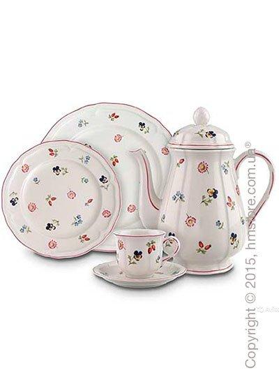 Набор фарфоровой посуды Villeroy & Boch коллекция Petite Fleur на 6 персон, 50 предметов