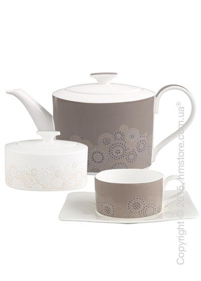 Чайный сервиз Villeroy & Boch коллекция Modern Grace Grey на 6 персон, 14 предметов