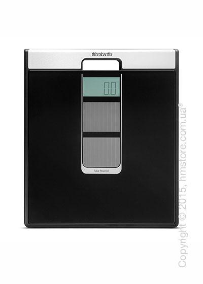 Напольные весы Brabantia Solar Powered Bathroom Scales, Black