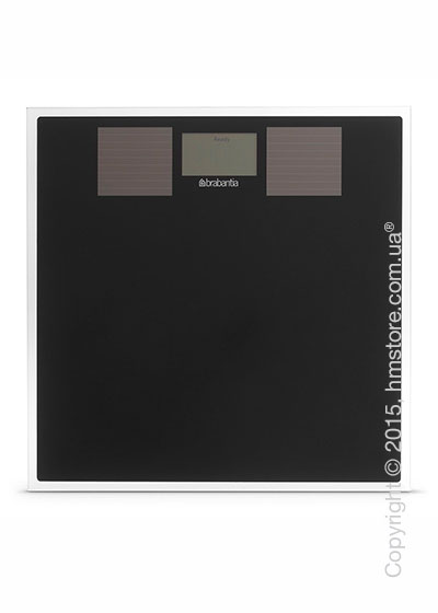 Напольные весы Brabantia Solar Powered Bathroom Scales, Black