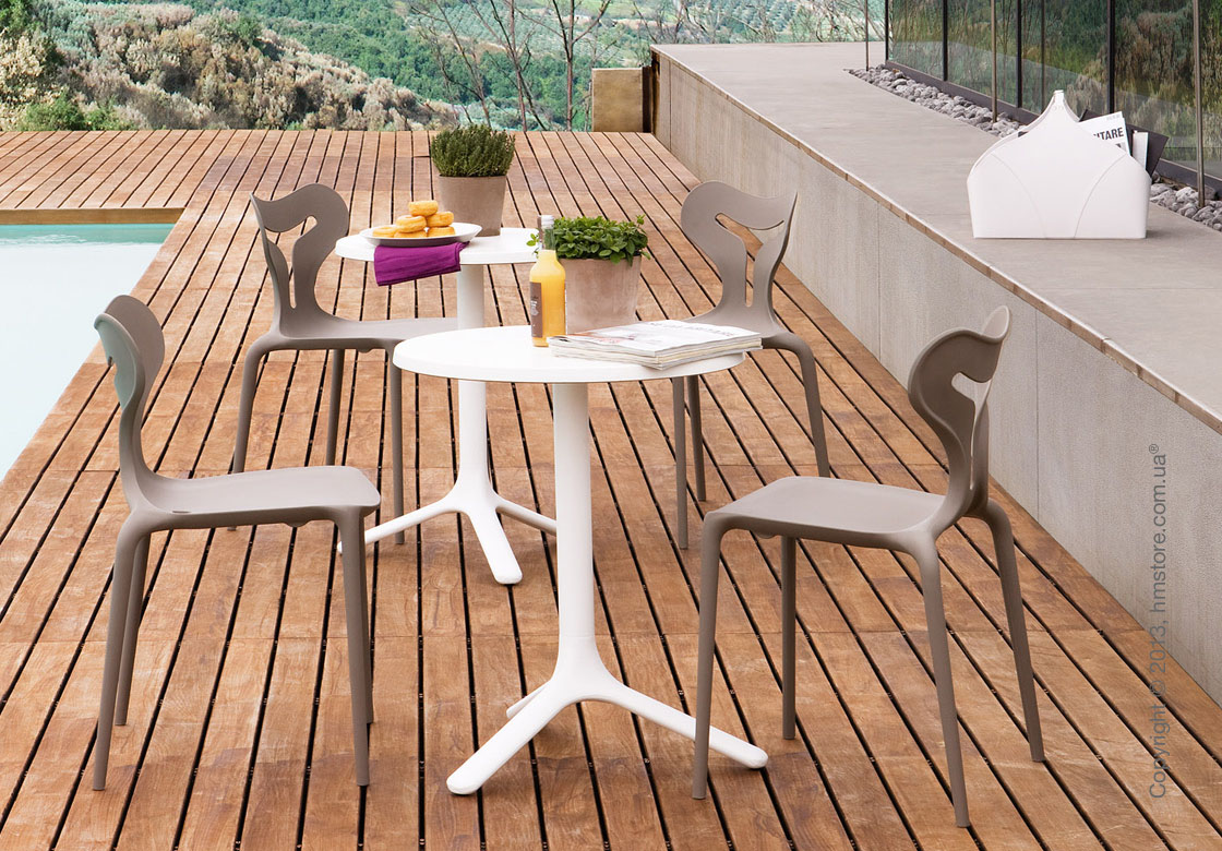 Стол Calligaris Area T, Outdoor bar table, Melamine matt black and Metal matt black