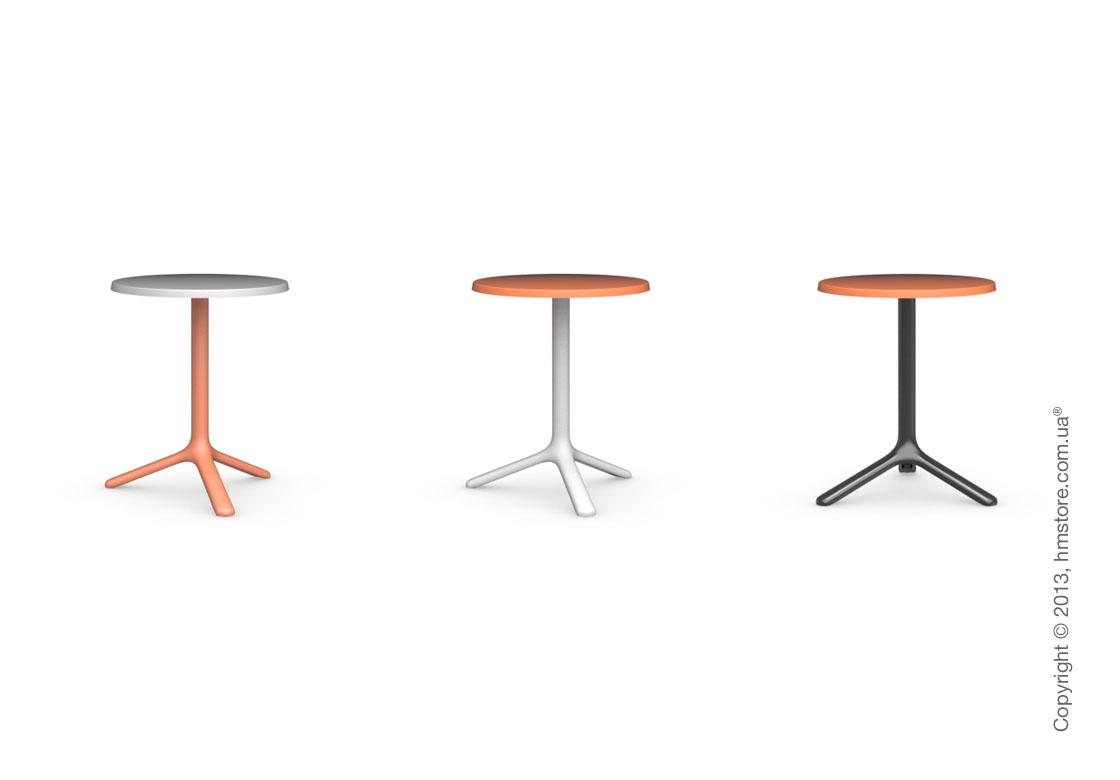 Стол Calligaris Area T, Outdoor bar table, Melamine matt black and Metal matt black