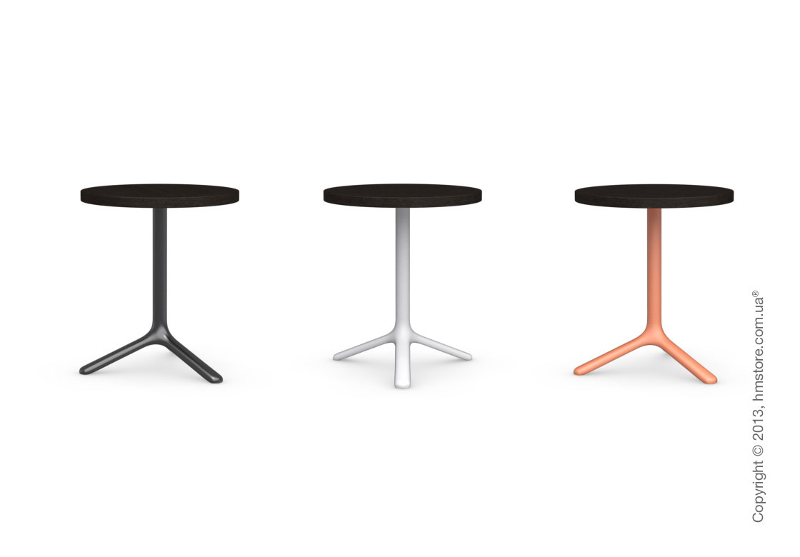 Стол Calligaris Area T, Round bar table, Laminated matt black and Metal matt black