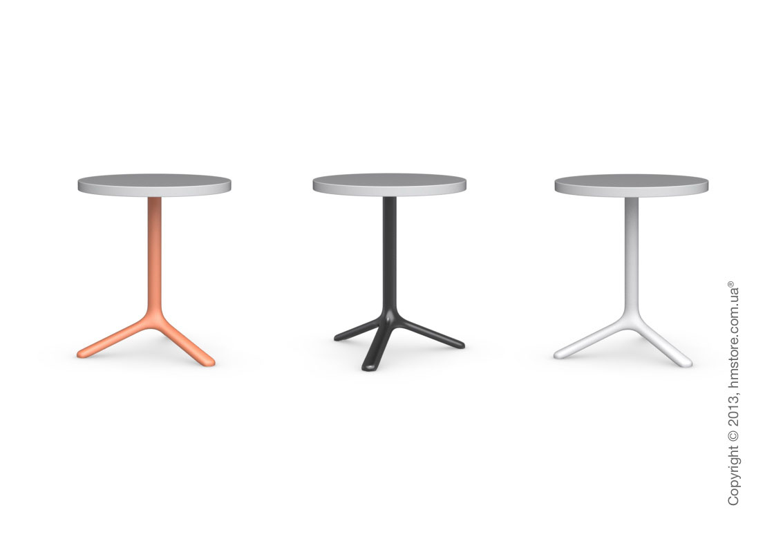 Стол Calligaris Area T, Round bar table, Laminated matt black and Metal matt black