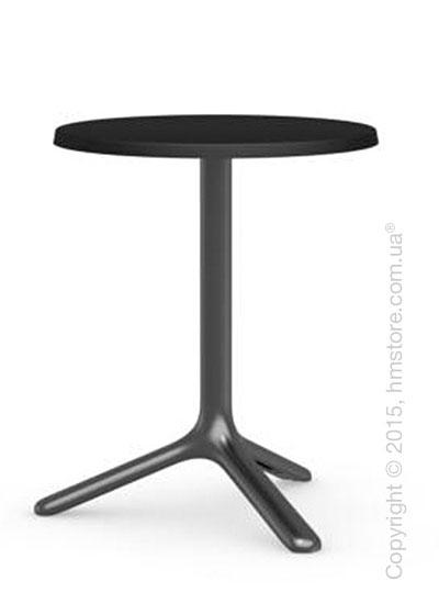 Стол Connubia Area T, Round bar table, Laminated matt black and Metal matt black