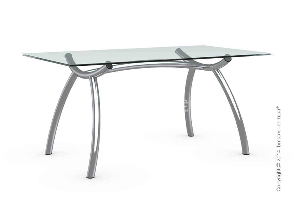 Стол Calligaris Diablo, Tempered glass transparent and Metal chromed, M