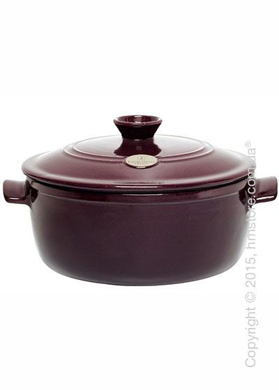 Кастрюля керамическая Emile Henry Cookware Flame 5,3 л, Figue