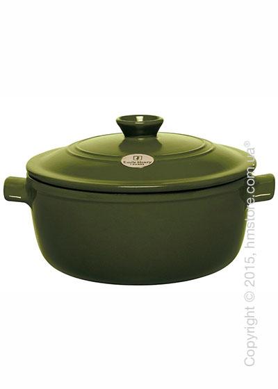 Кастрюля керамическая Emile Henry Cookware Flame 5,3 л, Olive