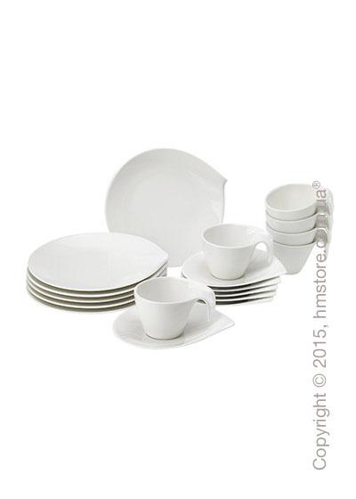 Набор фарфоровой посуды Villeroy & Boch коллекция Flow на 6 персон, 50 предметов