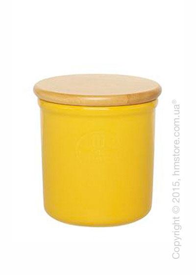 Емкость для хранения сыпучих продуктов Emile Henry Nэtural Chic 0,6 л, Yellow