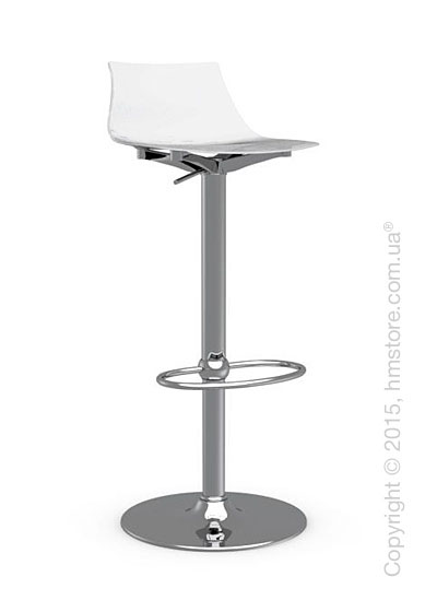 Стул Calligaris Ice, Metal stool and technopolymer shell, Metal chromed and Glossy optic white