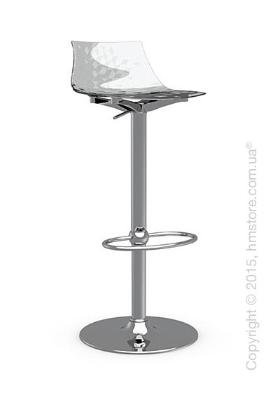 Стул Calligaris Ice, Metal stool and technopolymer shell, Metal chromed and Glossy