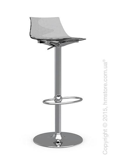 Стул Connubia Ice, Metal stool and technopolymer shell, Metal chromed and Smoked grey