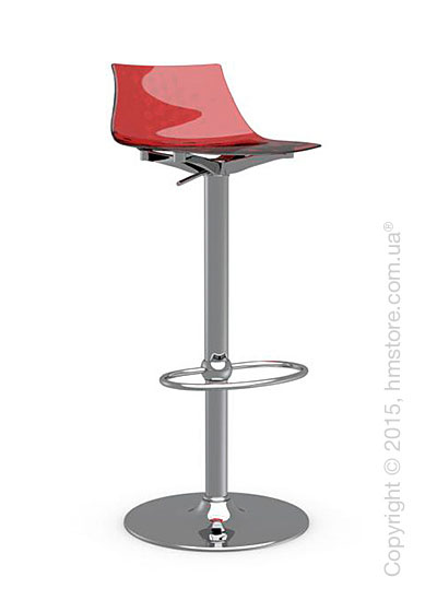 Стул Calligaris Ice, Metal stool and technopolymer shell, Metal chromed and Glossy red
